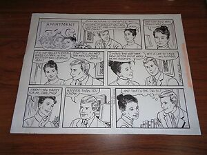Original Art Apartment 3-G by Frank Bolle Two Sunday Strips! (FB-MISC-011)
