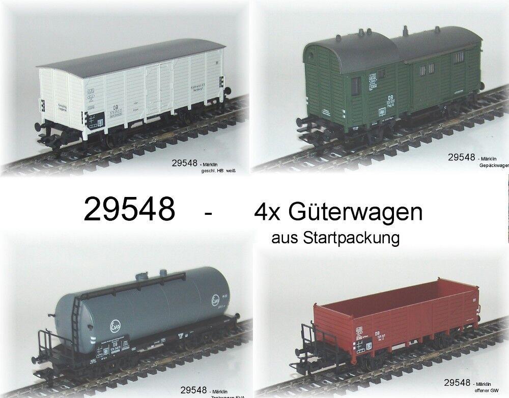 Desde 29548 Märklin la güterwagenset DB 4 piezas  neu
