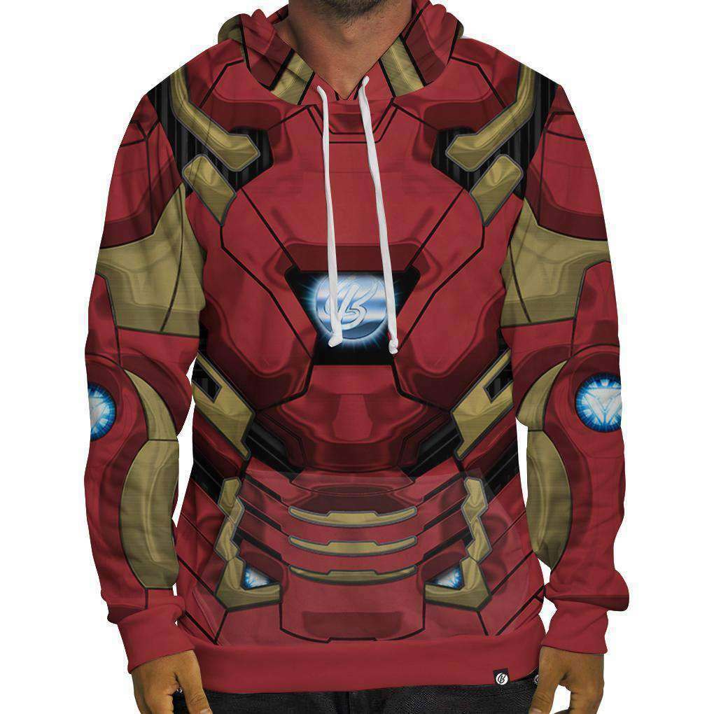 BRAND NEW Beloved Shirts IRON MAN HOODIE SMALL-3XLARGE CUSTOM MADE IN THE USA