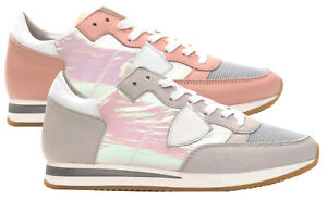 Sneakers-Philippe-Model-Tropez-L-Diridescent-scarpa-Made-in-Italy-donna-TRLDWO