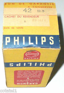Pentode-triode-finale-audio-42-PHILIPS-NOS-NIB-boite-scellee
