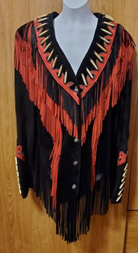 Diamond Leathers Suede Womens Fringed Jacket South