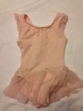 Girls Freestyle by Danskin  Pink Bling Skirted Dance Leotard Size XS 4/5