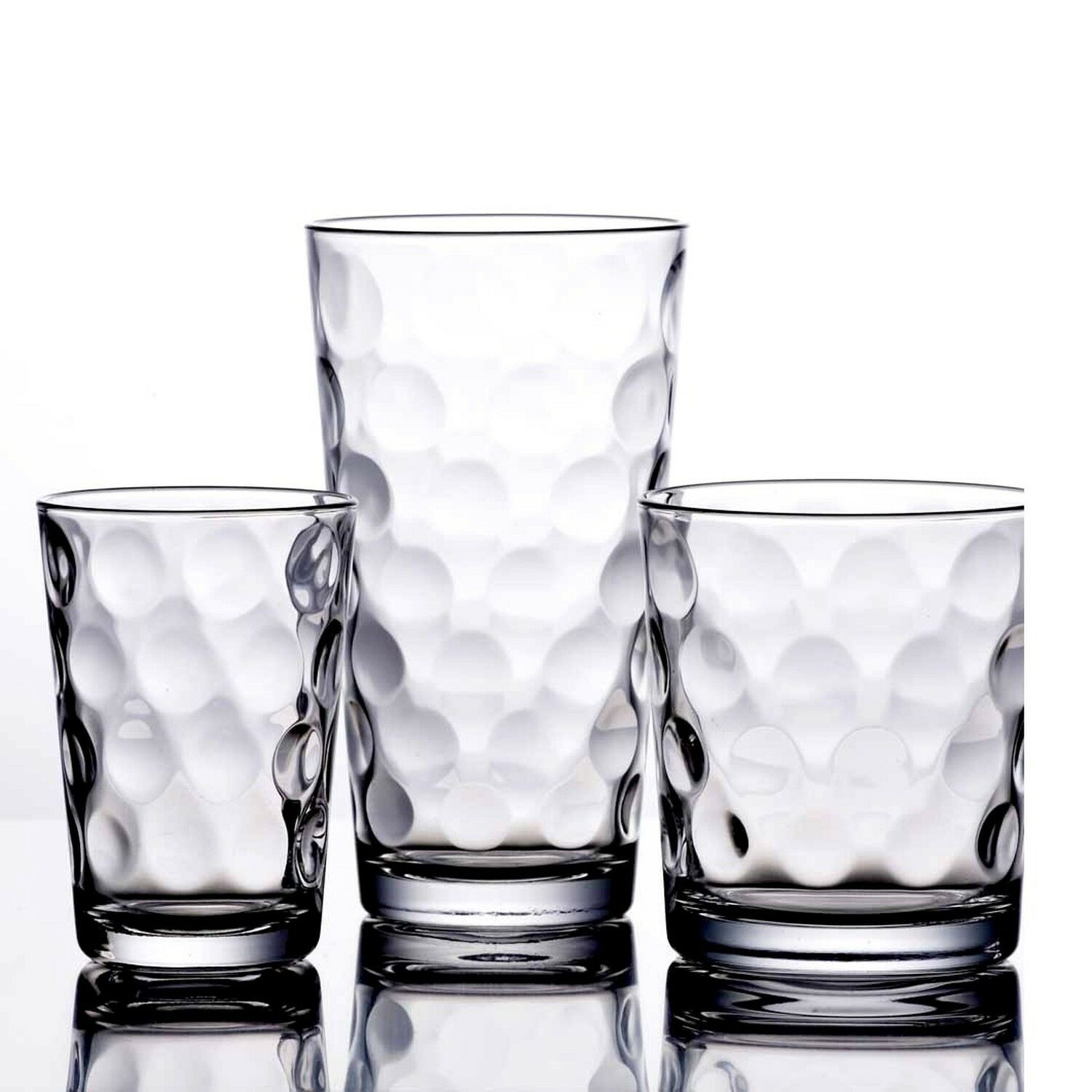Drinking Glasses Kitchen Glassware Mix Set Of 12 Clear Glass Water Juice Cups For Sale Online Ebay