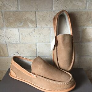 8a2de44fc3a Details about UGG LORNE 1978 COLLECTION CHESTNUT SUEDE SHEEPSKIN SLIPPERS  MOCCASIN SIZE 7 MENS