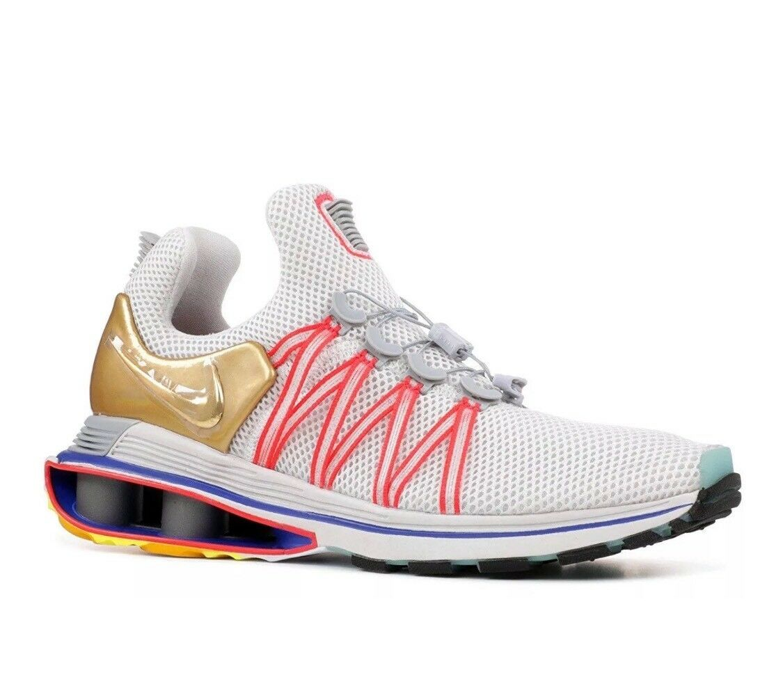 Nike Shox Gravity AQ8553-009 Vast Grey Metallic gold Running shoes Mens Size 8.5