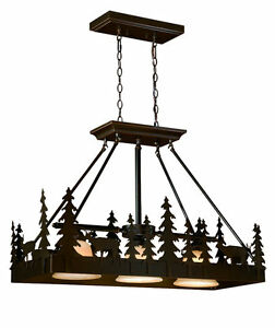 Details About Bryce Vaxcel 3 Light Burnished Bronze Rustic Lodge Kitchen Lighting Pd55436bbz