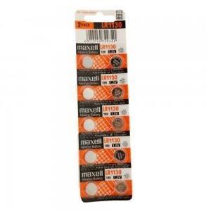 Pack-de-10-MAXELL-LR1130-1-5-V-calculatrice-bouton-Suivre-Piles-Alcalines