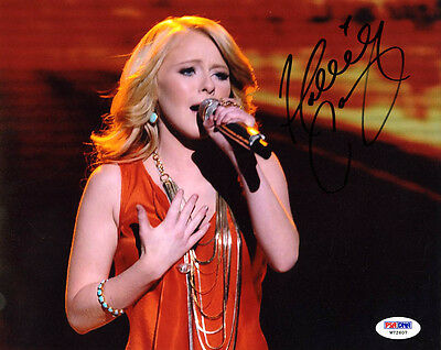 Music Hollie Cavanagh Signed 8x10 Photo American Idol Psa/dna Autographed Good Companions For Children As Well As Adults Autographs-original