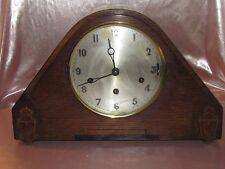 Belle et grande Horloge pendule en bois anglaise Art Déco carillon 8 marteaux