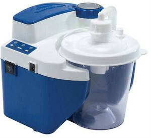 DeVilbiss-Vacu-Aide-QSU-Portable-Quiet-Suction-Unit-Aspirator-Machine-w-Battery