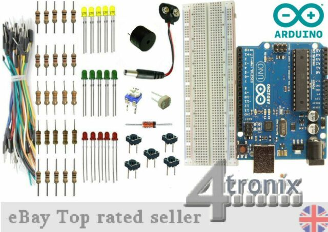 Genuino Arduino UNO Rev3 ATMEGA328P Board with Basic Essentials Starter Kit R3