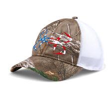 Under Armour UA Fish Hook Logo Realtree Xtra Camo American Flag Mesh Back Cap
