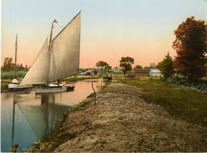 Broad-District-Stalham-Dyke-PZ-Vintage-Photochromie-England-photochromie-v