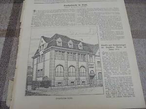 Humble 1911 Baugewerkszeitung 46/banque à Suhl Thüringische Landesbank-ung 46 / Bank In Suhl Thüringische Landesbank Fr-fr Afficher Le Titre D'origine