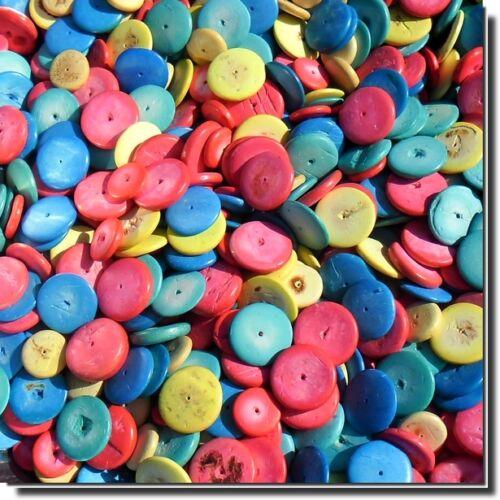 2 lots achetés 1 lot offert 450 grs de coco disque coloris mélangé 20 et 15mm
