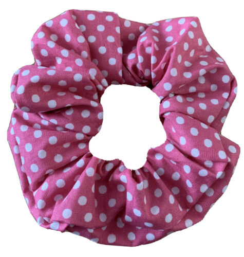 Fait main rose et blanc spot Hair Scrunchies
