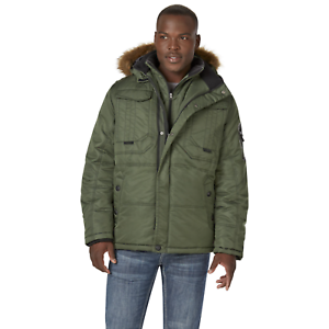 Men's Pacific Trail Heavyweight Hooded Snorkel Parka Olive XL  NK274-821