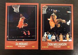 Ja Morant Zion Williamson Custom Lot (2) Rookie Game