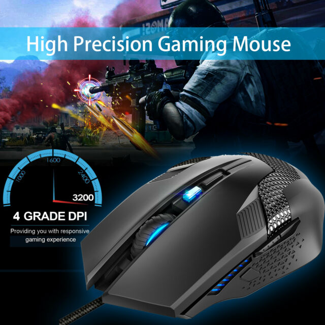 6e0f084dfee TeckNet Gaming Mouse, 2.4GHz Wired Optical Mice 3200 DPI Backlit for PC  Laptop