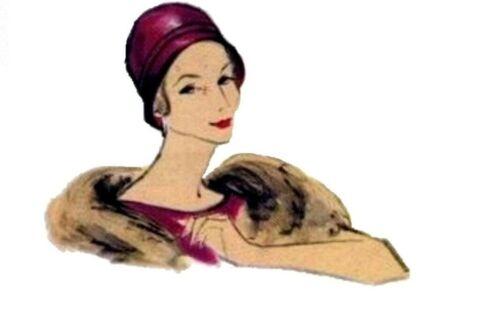 Classic CLOCHE Hat JOHN FREDRICS Vintage 1950/'s VOGUE 9601 Fabric Sewing Pattern