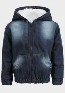 BOYS-BLUE-COTTON-FUR-LINED-HOODED-NECKLINE-DENIM-JACKET-AGE-9-MONTH-TO-5-YEARS