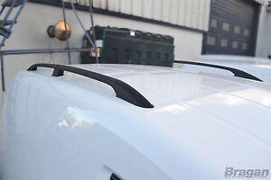 Pour-2010-2015-Volkswagen-Caddy-Maxi-Lwb-Noir-Toit-Aluminium-Rail-Rack-Barres
