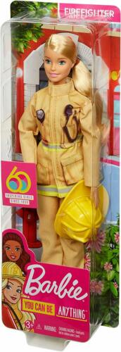 Barbie Careers 60th Anniversary Firefighter Doll Blonde *new*