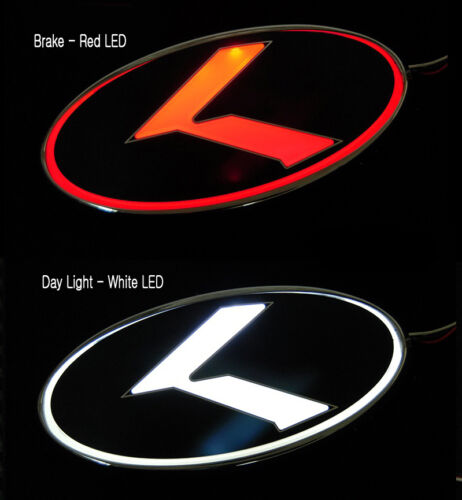 Grill Trunk K Logo 2Way LED Emblem Badge For 09 10 2011 2012 Kia Forte Cerato