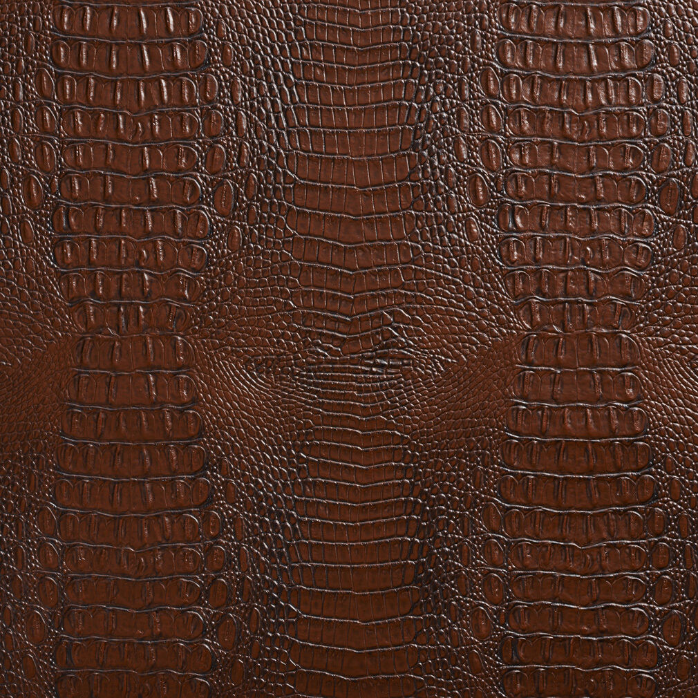 Furnishing Fabrics Animal Snake Theme Scales Textured Pattern Golden Brown Faux Leather Vinyl Upholstery  Fabric For Sale By The 1 Metre