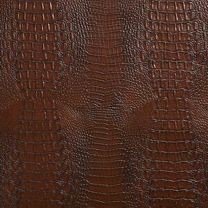 Brown Crocodile Reptile Skin Texture Vinyl Upholstery Fabric Ebay