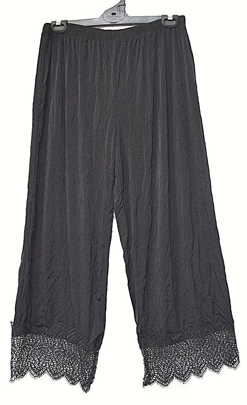 TS pants TAKING SHAPE plus sz S -M   18 Moonlight Pant relaxed lace hem wide NWT