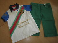 Joules Cropped Trousers Shorts & Badminton Polo Shirt Age 4 Rrp£52.90 Freeukp&p
