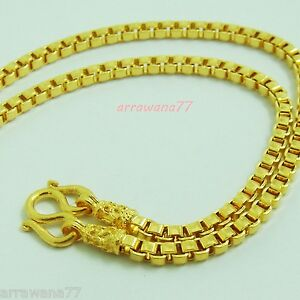 3MM Chain 18K 22K 24K THAI BAHT GOLD GP NECKLACE 24 Grams Jewelry