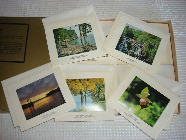 *24* Vintage MINNESOTA SCENES NOTE CARDS by Bright of America