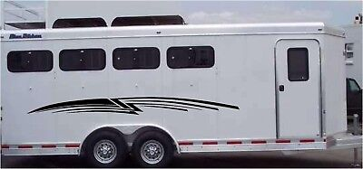Horse Trailer Stripes with Graphic Decal Stickers Vinyl Decals Choose Your Size!