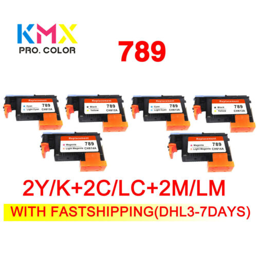 Fastship 2set 789 printhead For hp789 for hp 789 L25500 CH612A CH613A CH614A