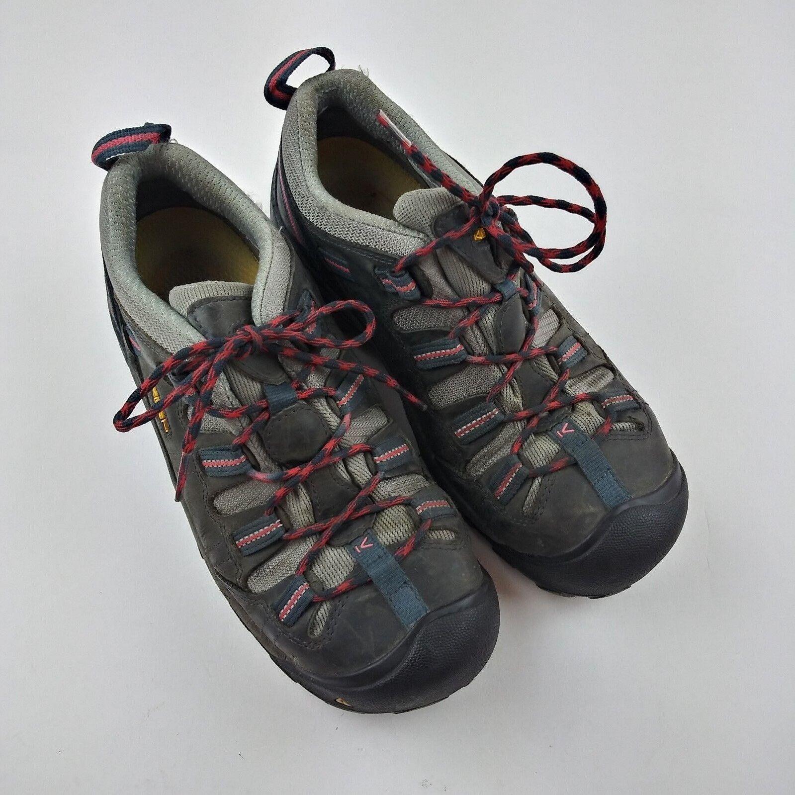 KEEN Utility Men's Size 10 Boulder Low Industrial shoes steel toe Black Red