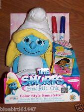 Smurfs Smurfette Color Style Plush Doll New