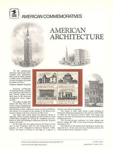 #148 18c Architecture Block #3 #1928-1931 USPS Commemorative Stamp Panel