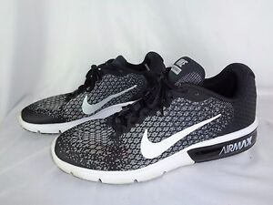 Nike Air Max Sequent 2 Mens 852461-005 Black   White Running Shoes ... a8a842ce96