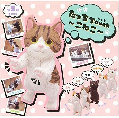 Kitan Club Tatchi Touch ~ Kitten ~ Gashapon 5 set mini figure capsule toys