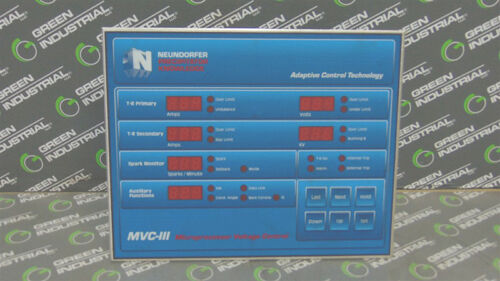USED Neundorfer MVC-III Microprocessor Voltage Control Panel 81700-128 MVC3-ASTD