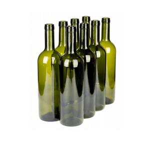 8Stk Weinflasche 750 ml Glasflasche leere Flasche Likör Wein olivgrün