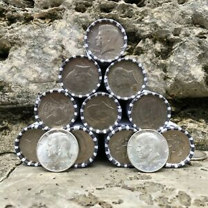 90-and-40-Silver-Kennedy-Coins-Lot-amp-One-1-Bank-Sealed-Half-Dollar-Roll