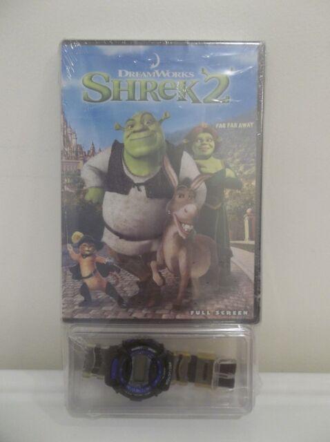 Shrek 2 Far Far Away Full Screen Dvd Set W Bonus Wrist Watch New Sealed Ebay
