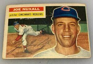 1956-Topps-218-Joe-Nuxhall-Baseball-Card-Cincinnati-Red-Legs-Reds