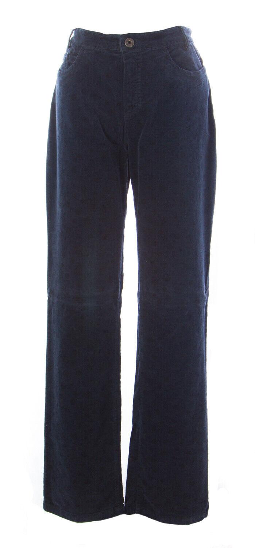 Les Copains azul Mujer Azul  Marino Terciopelo Floral Pantalones OJ3244 It Sz 40  punto de venta barato