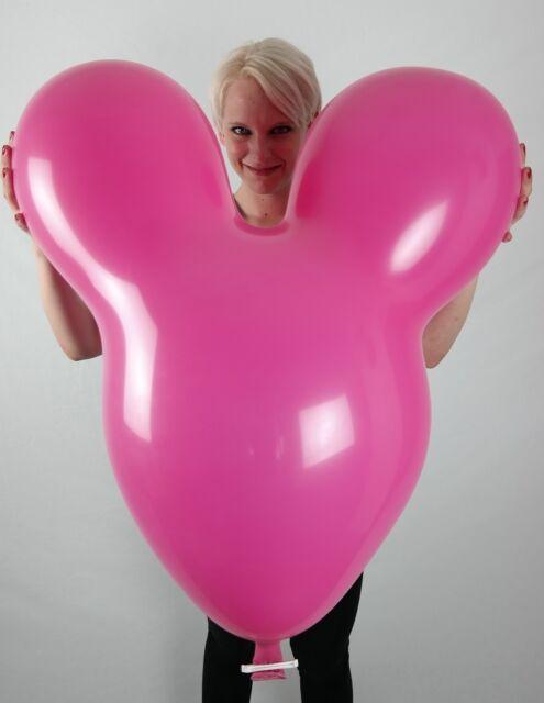1 x CATTEX Riesen-Maus-Ballon FARBIG +VERSCHLUSS! *MOUSE ASST. COLORS*