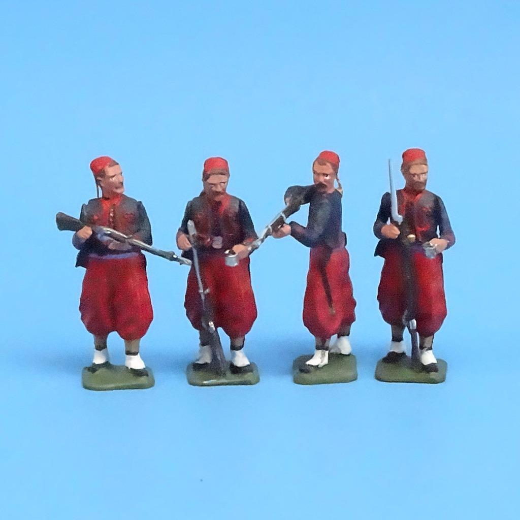 CORD-313 - Union Zouaves (4 Figures) - ACW - Unknown Manufacturer - 54mm Metal -
